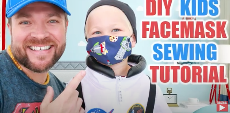 DIY Kids Face Mask- Sewing Tutorial!
