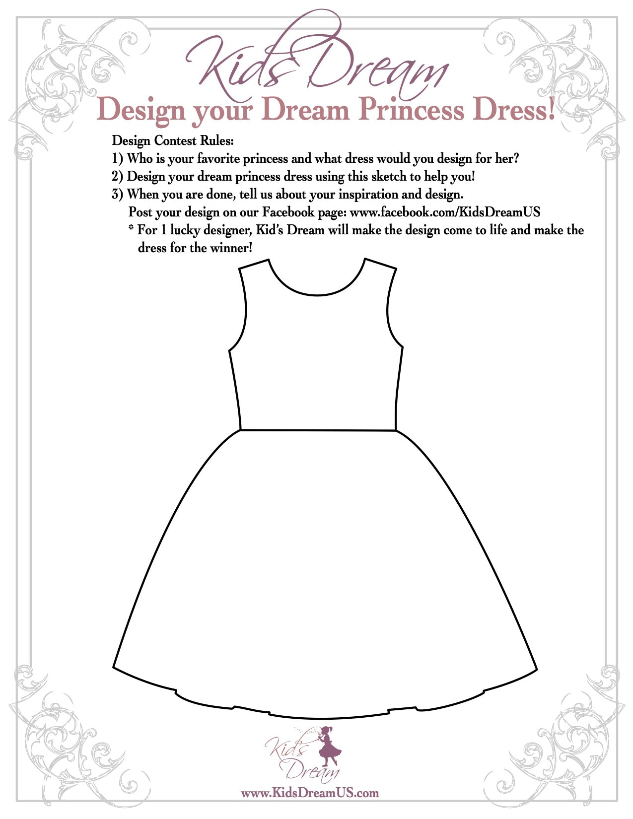 Kid's Dream Dress Design Contest 3/25-Extended to 4/30!