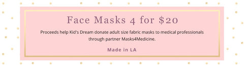 face mask donation kids dream