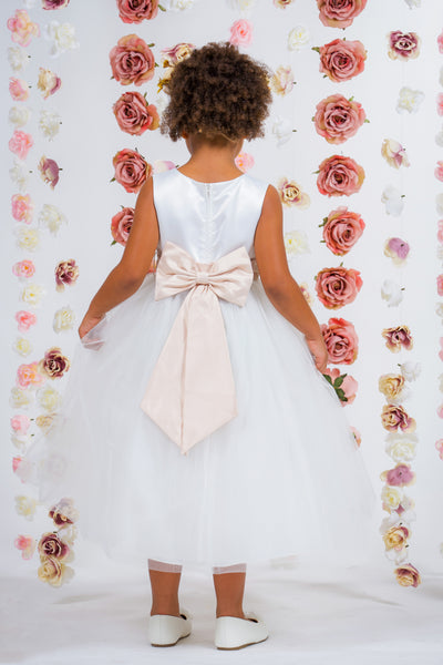 flower girl dresses with sash and bow   Kid's Dream