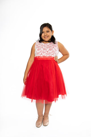 Plus Size Stretch Lace Girl Dress
