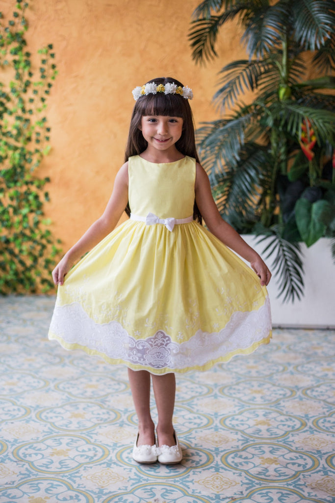 Kids Dream Summer Yellow Cotton Dress