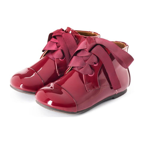 Age of Innocence Jane Boots, Burgundy Patent