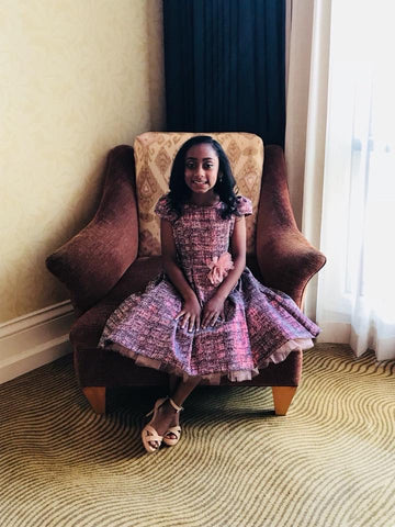 Miss Pre-Teen New York United States 2018, Eliza Smith wearing Kids Dream Style #400 for her pageant interview at Little Miss United States Pageant.