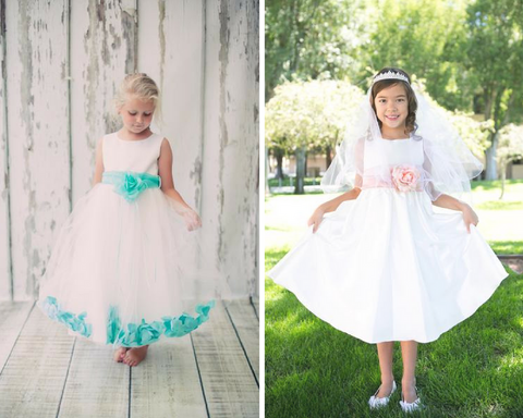 Classic + Customizable Beach Wedding Wish Lantern Flower Girl Dresses | Kid's Dream