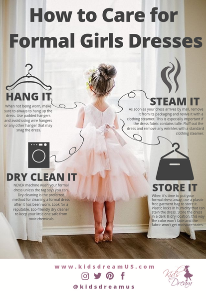 How to Care for Formal Girls Dresses | KidsDreamUS