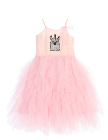 llama corn tutu dress
