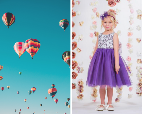 Sky High Love Flower Girl Dress | Hot Air Balloon | Kids Dream