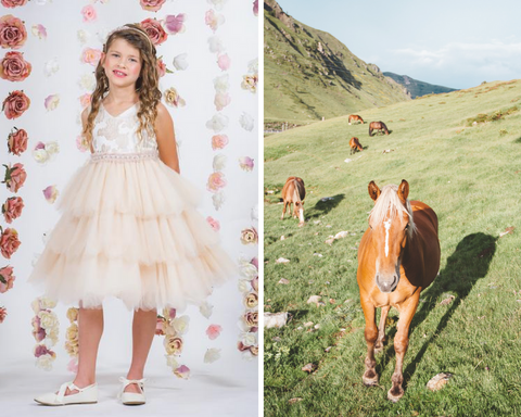 The Glam Horse Wedding Flower Girl Dress | Kid's Dream