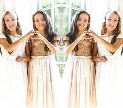 Lucky Twins feature on IG | kidsdream | great gatsby style flower girl dress