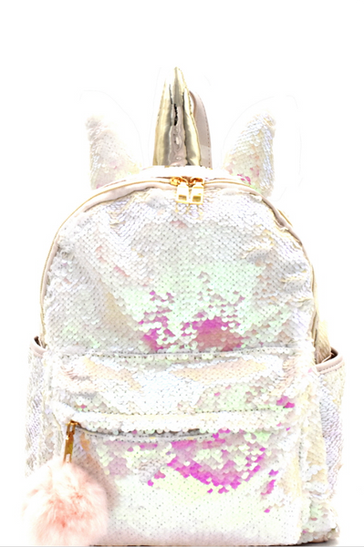 flip sequin unicorn backpack