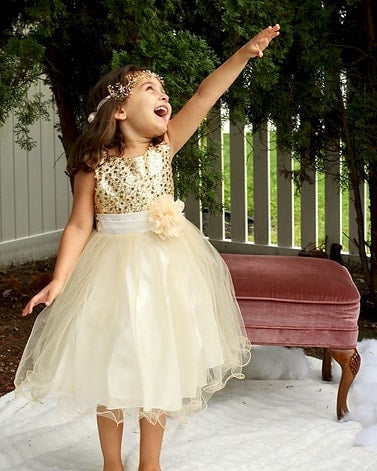 kids dream gold sequin dress