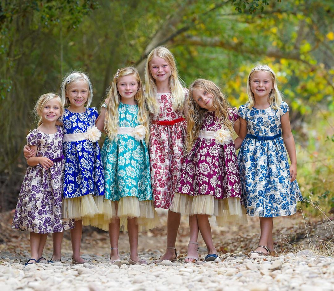 kids dream brocade dresses