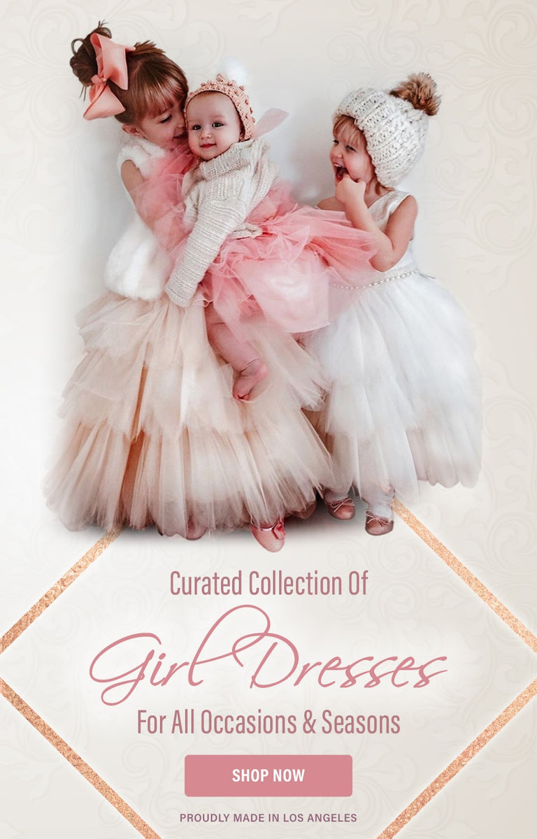 Curated collection of girl dresses for all occasions & seasons - Shop Now - Proudly made in Los Angeles