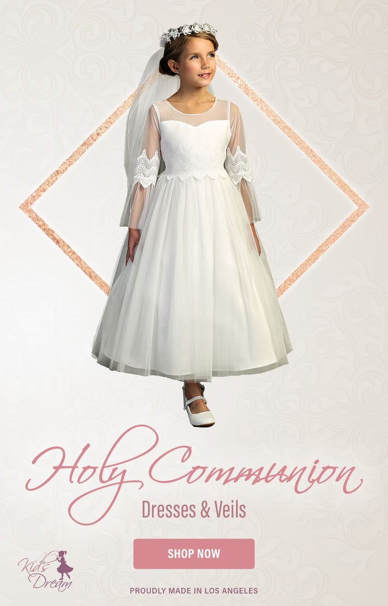 Holy Communion Dresses & Veils - Shop Now