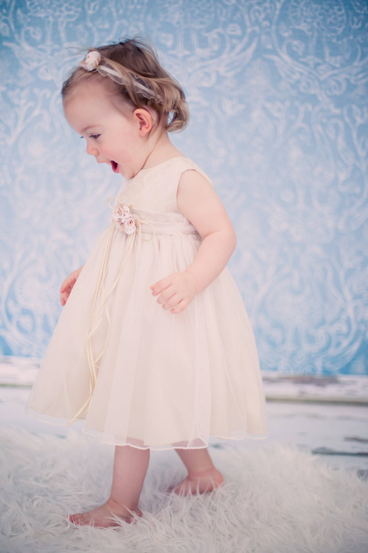 Metallic Jacquard Baby Dress