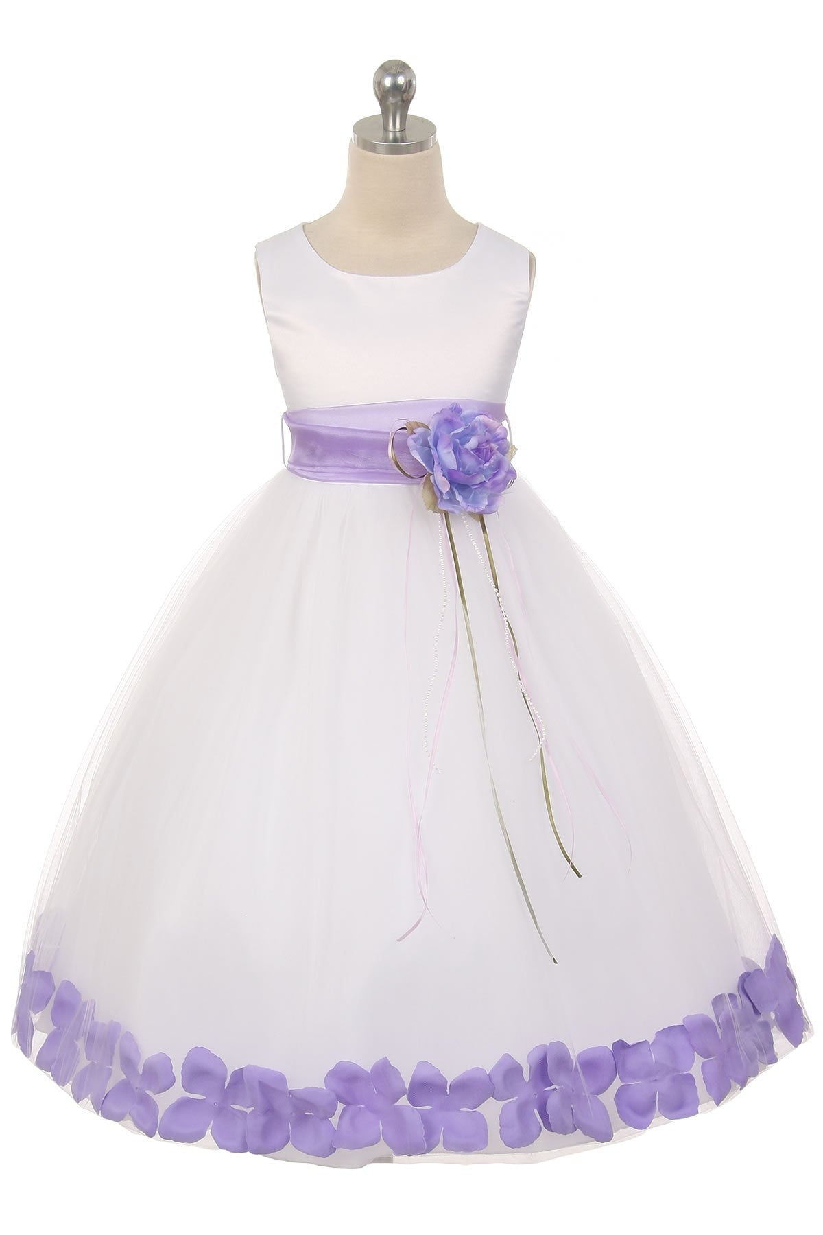 Flower Petal Dress w/ Sash (White Dress) 1of2