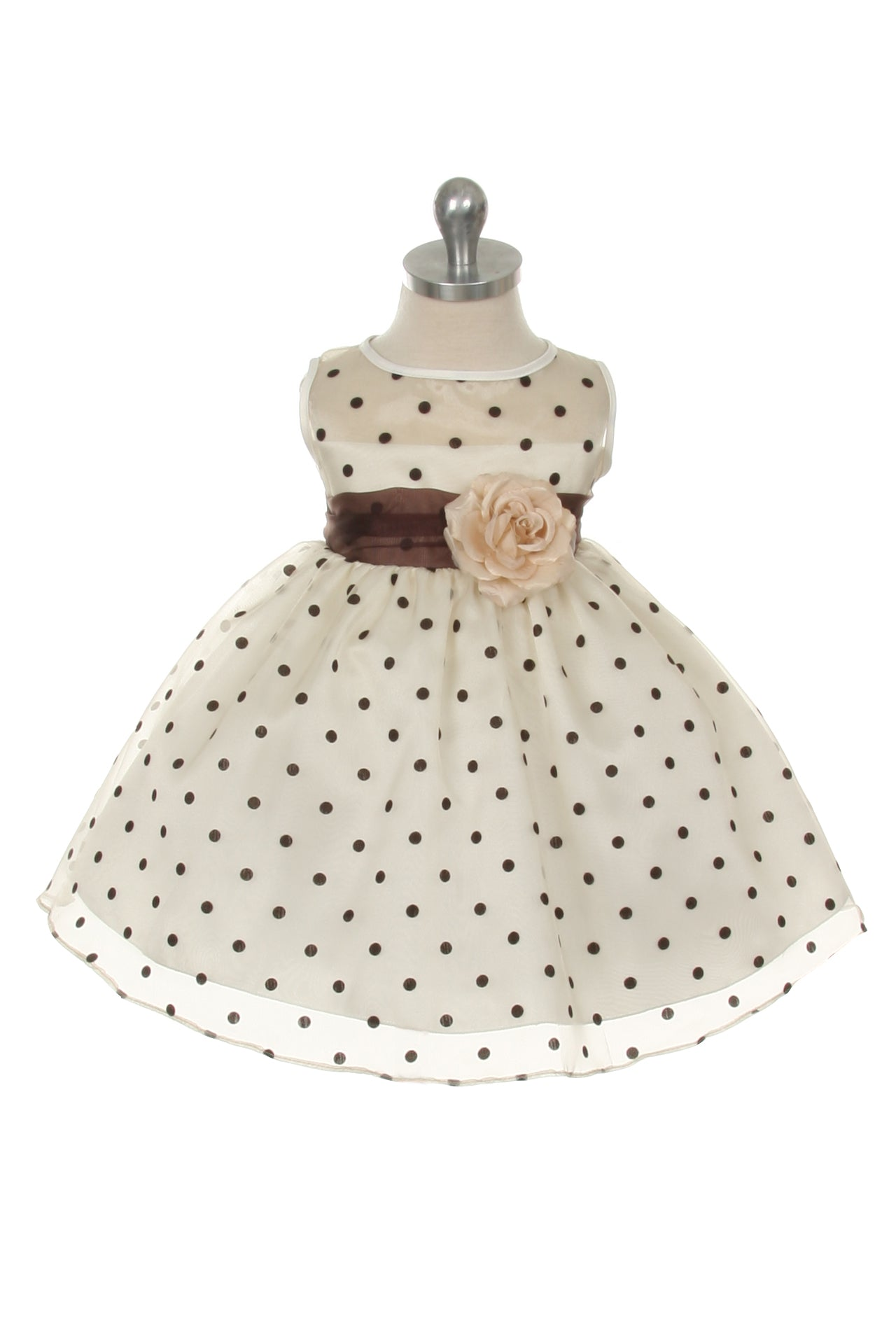 Organza Polkadot Baby Dress
