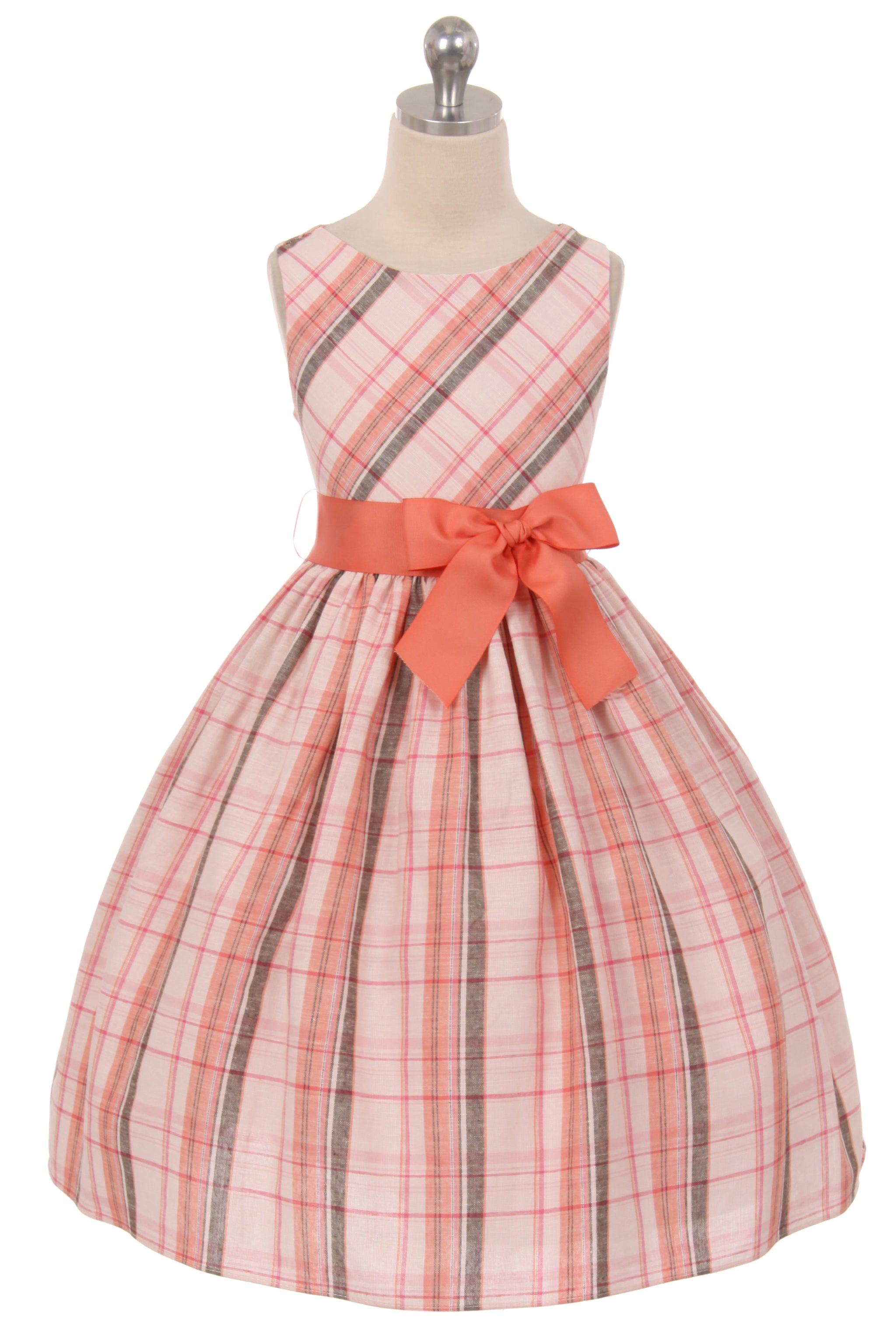 Tartan Plaid Cotton Girl Dress