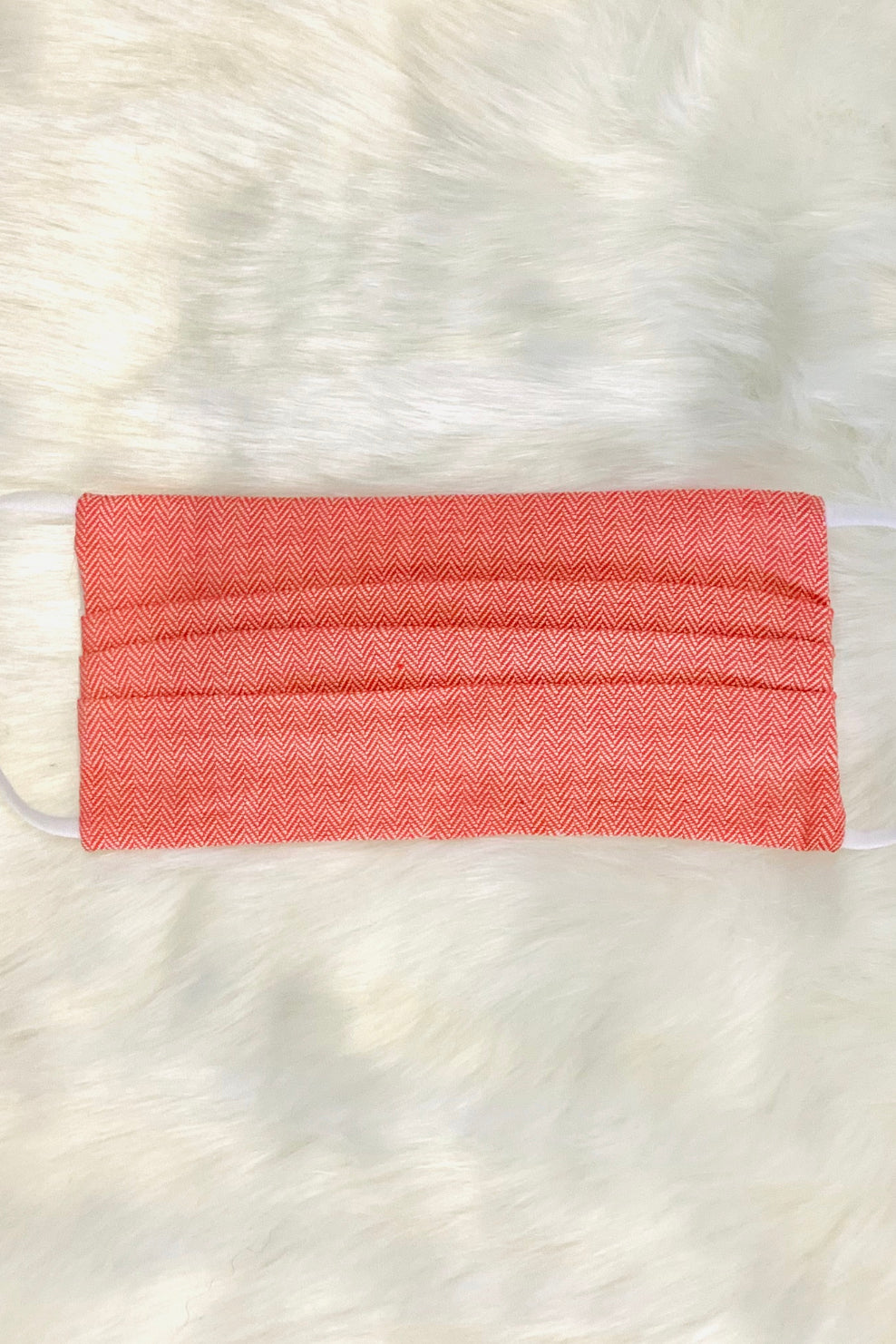 Coral Woven Face Mask
