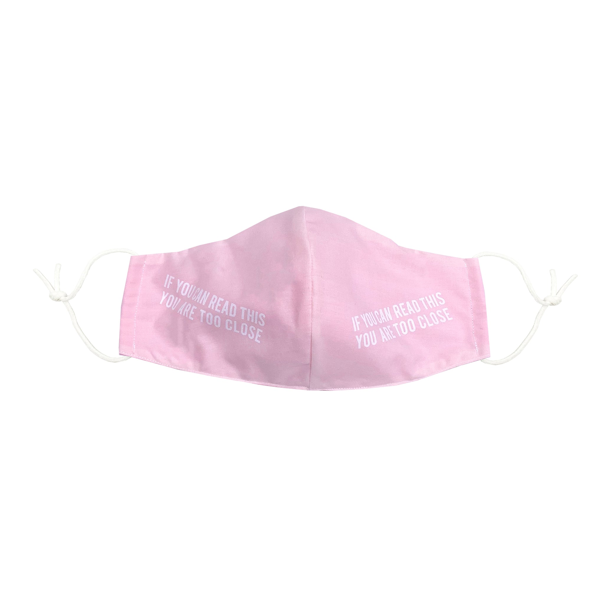 If You Can Read This Face Mask with Filter (Black & Pink)