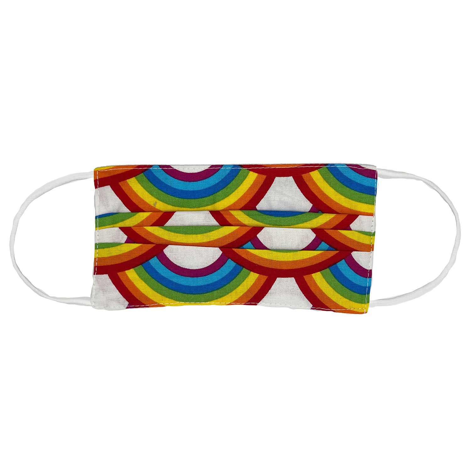 Pride Repeating Rainbow Pleated Face Mask