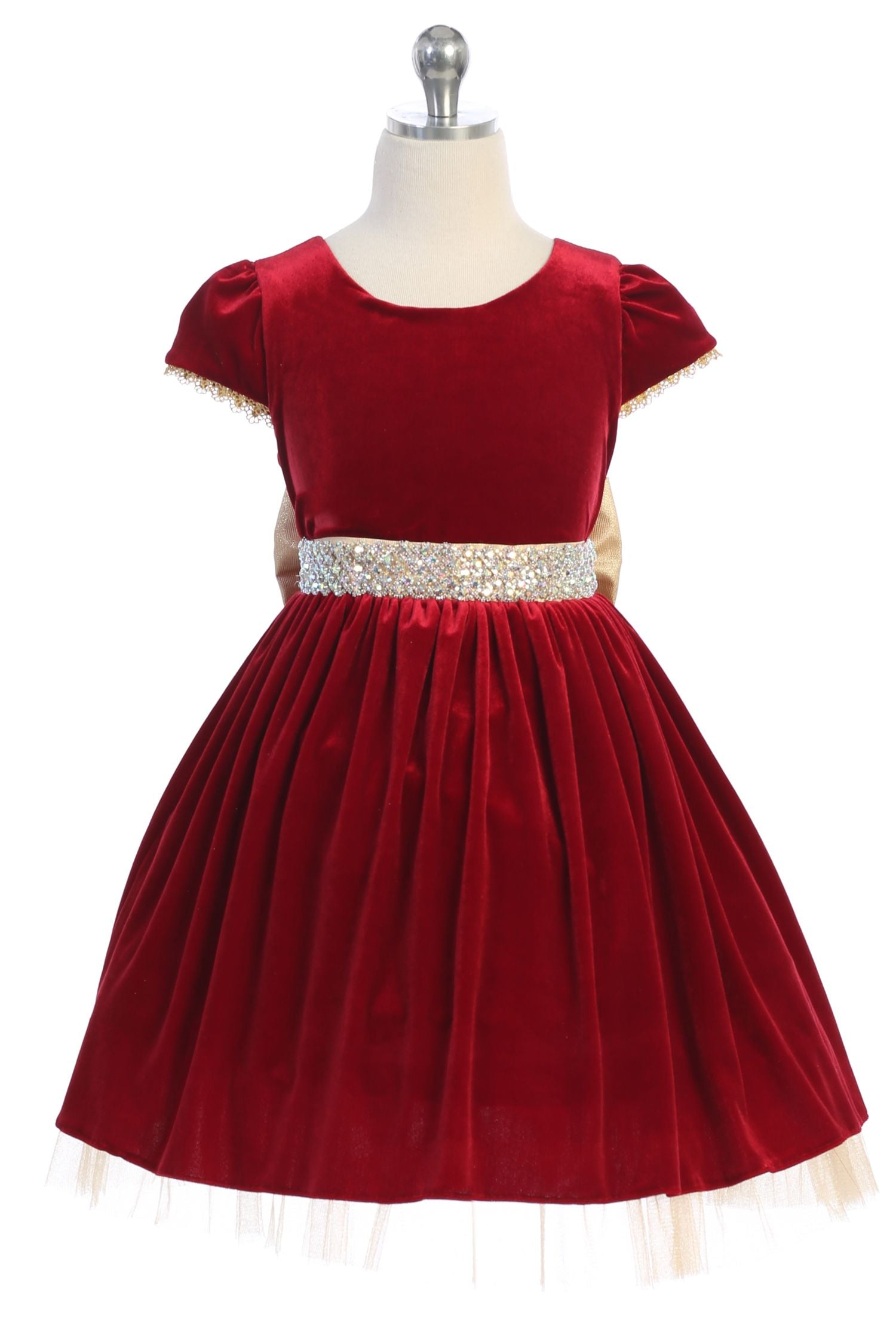 Velvet Crystal Rhinestone Dress