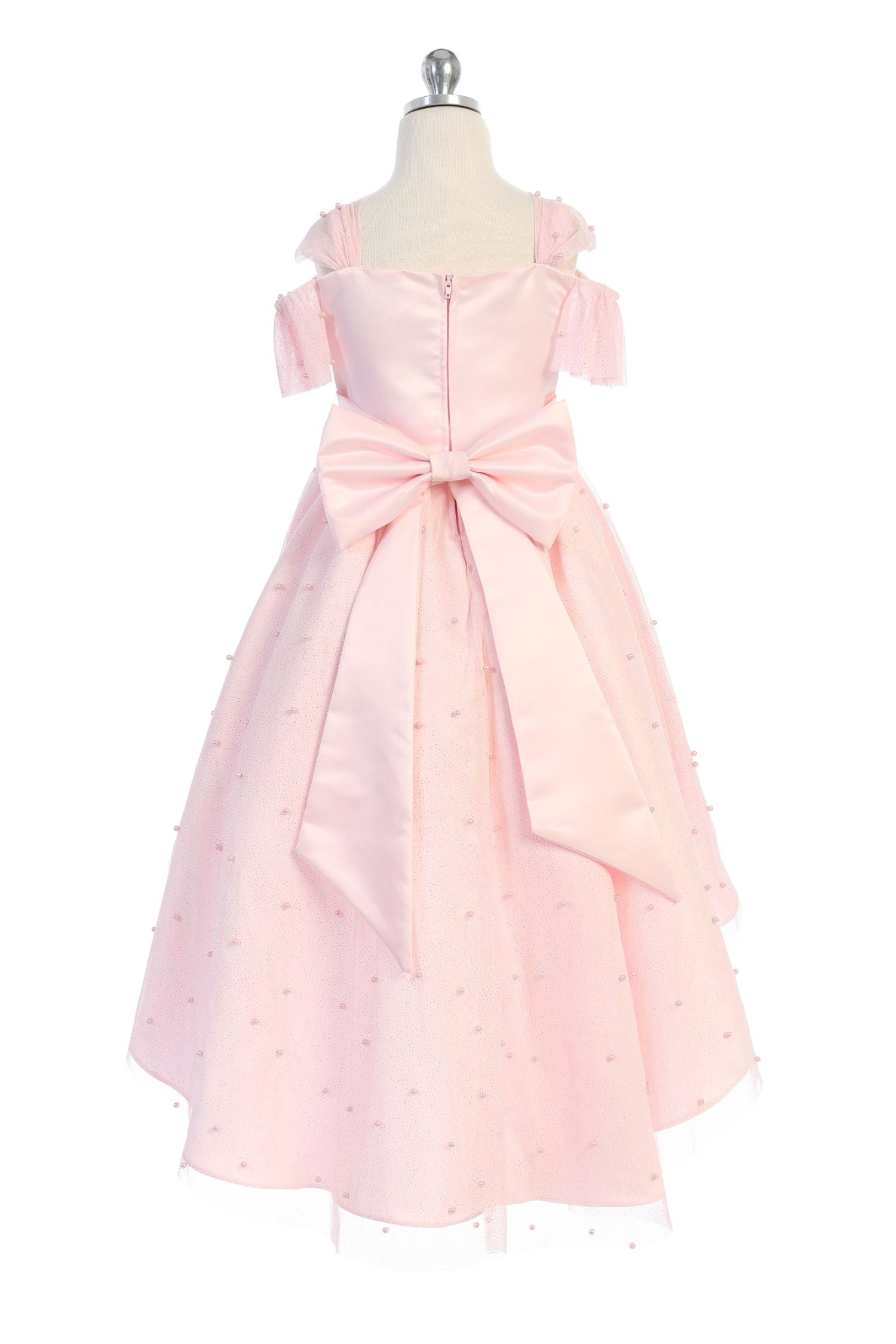 Pink Pearl High-Low Dress