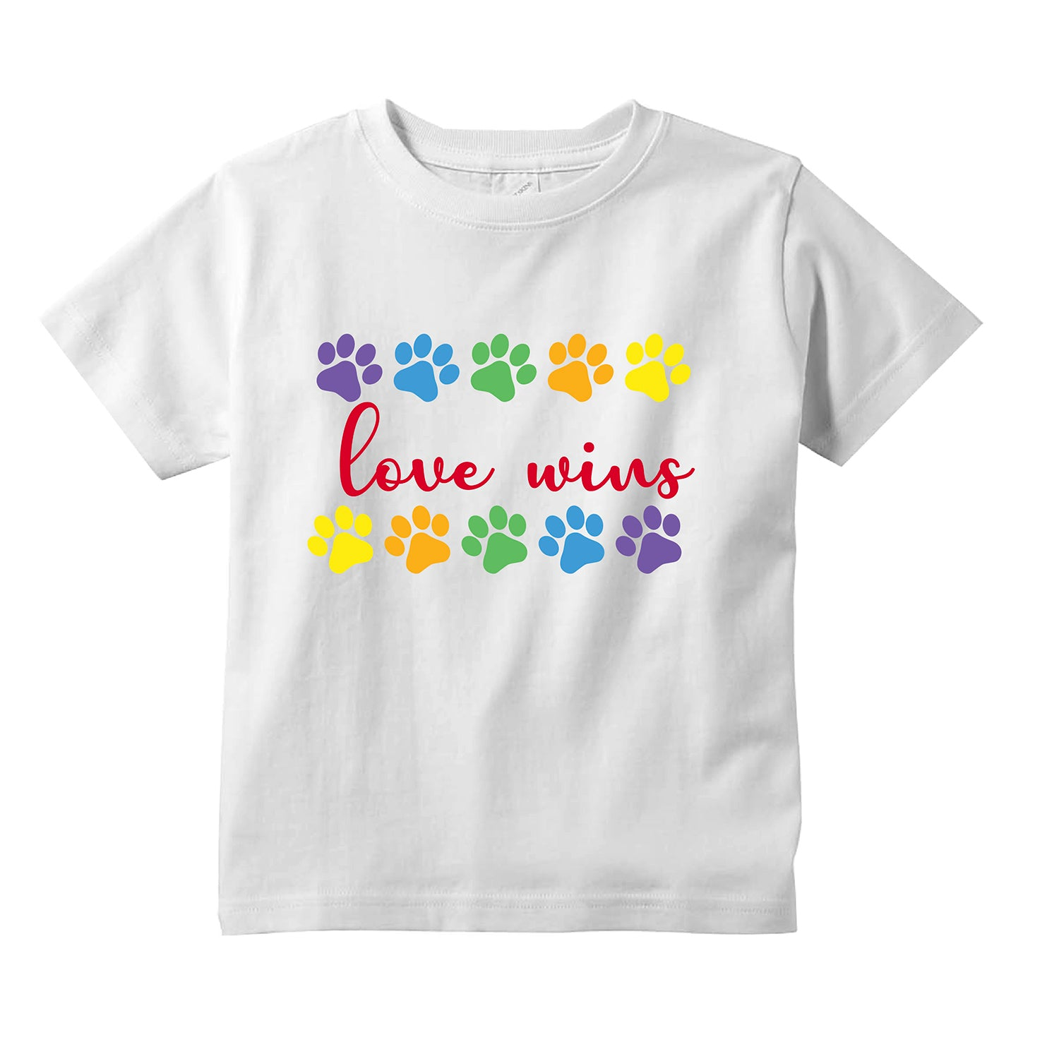Love Wins Dog Paws Toddler T-Shirt + FREE Love is Love Pride Face Mask