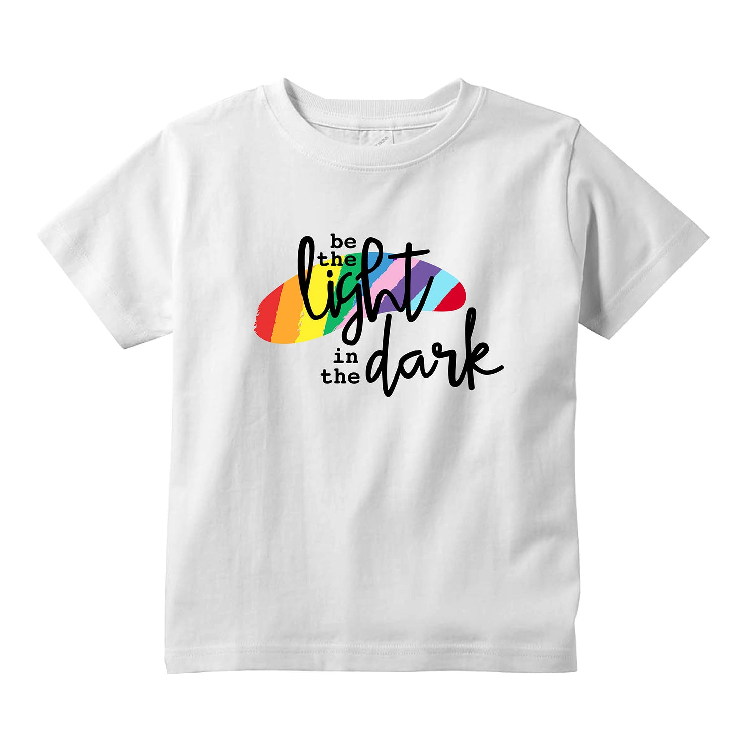 Rainbow Pride Be The Light Kids T-Shirt