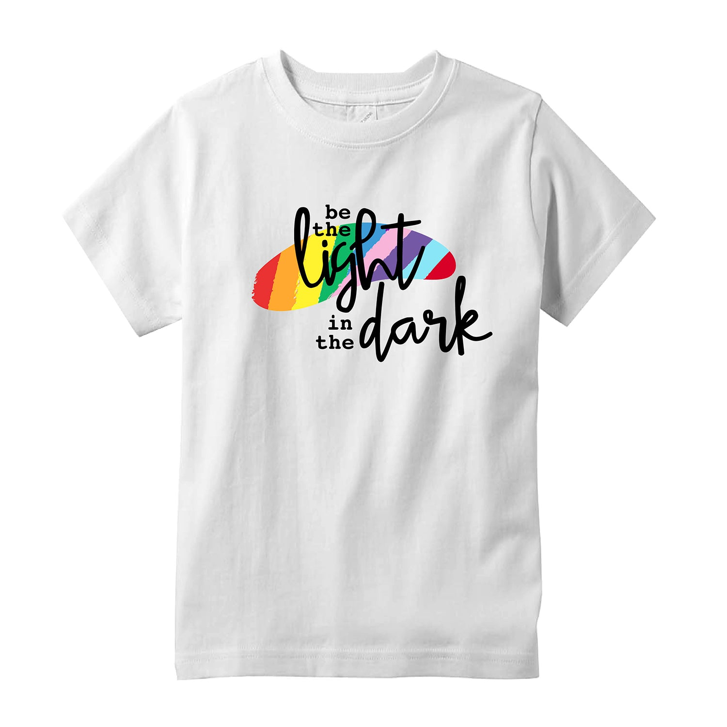 Rainbow Pride Be The Light Adult T-Shirt