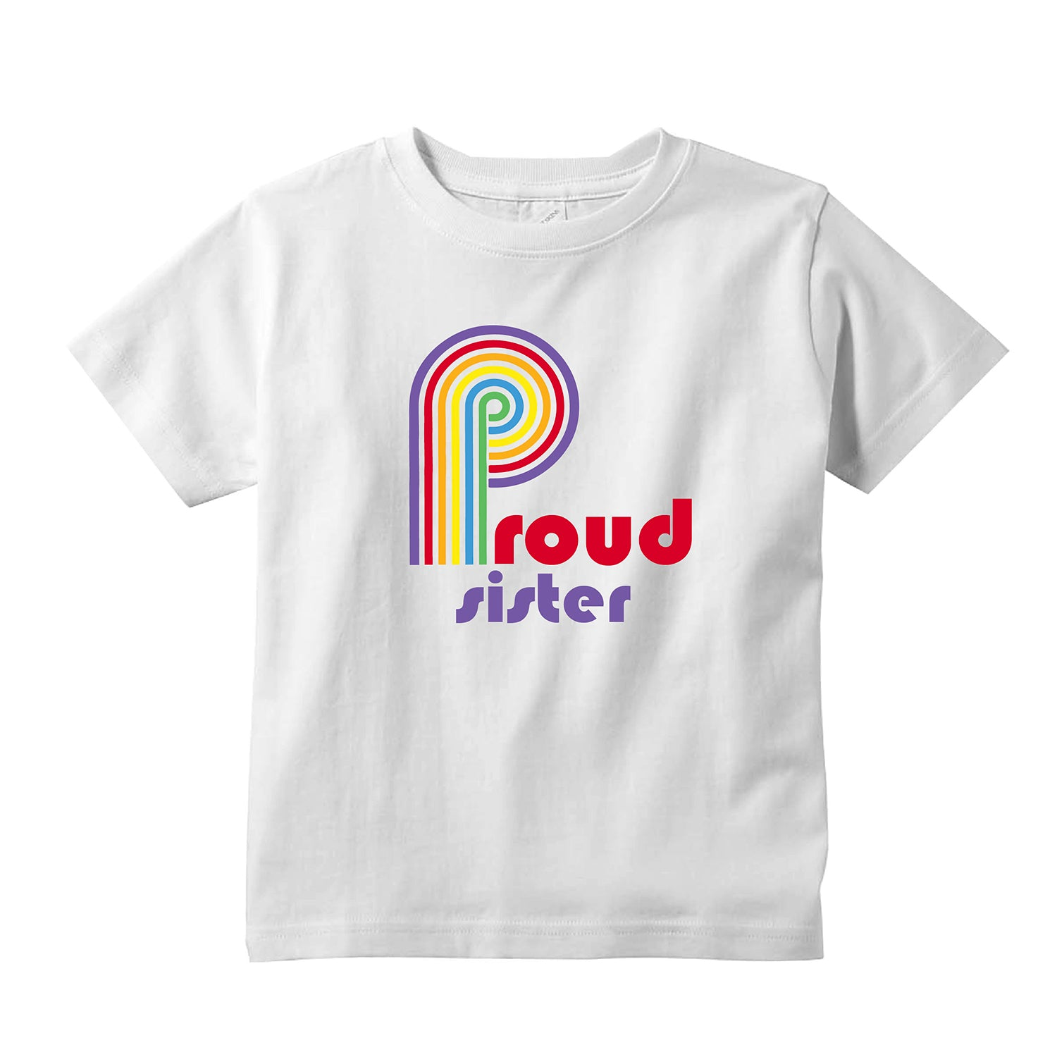 Pride Sister Toddler T-Shirt  + FREE Love is Love Pride Face Maskt