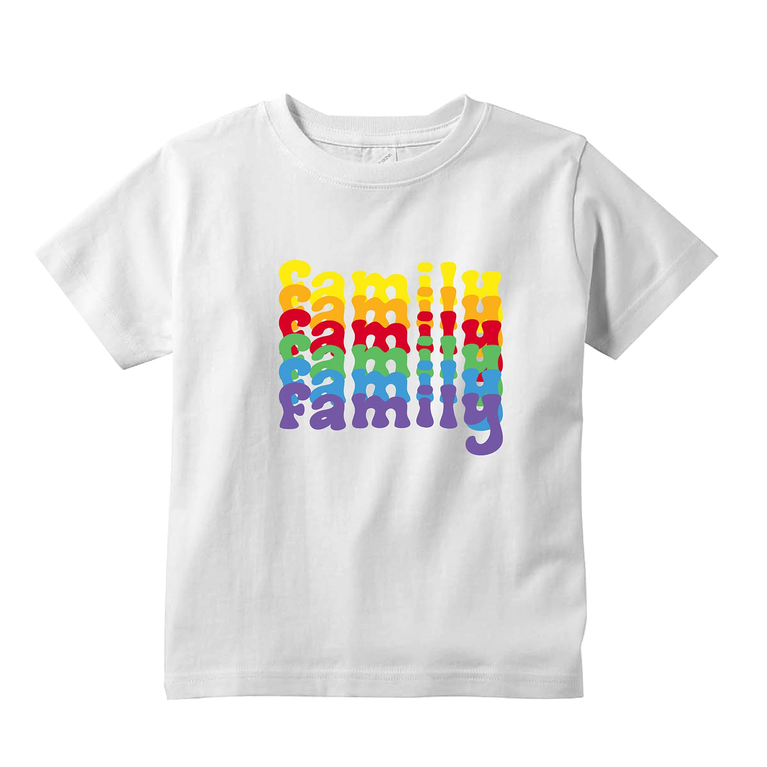 Colorful Repeating Family Toddler T-Shirt + FREE Love is Love Pride Face Mask