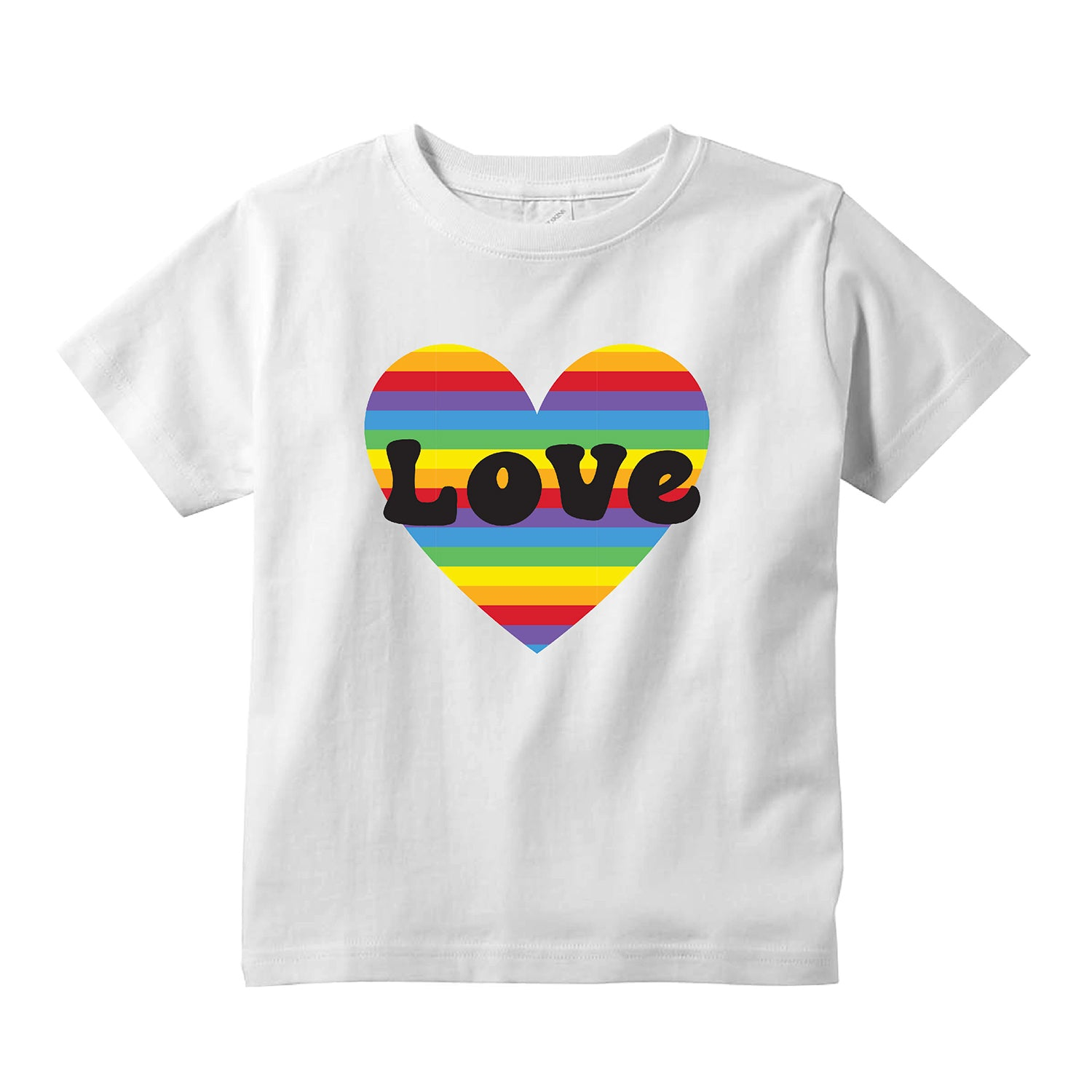 Love Rainbow Heart Kids T-Shirt + FREE Love is Love Pride Face Mask