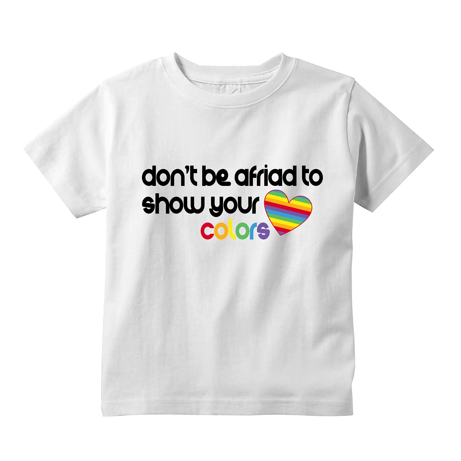 Show Your Colors Kids T-Shirt + FREE Love is Love Pride Face Mask