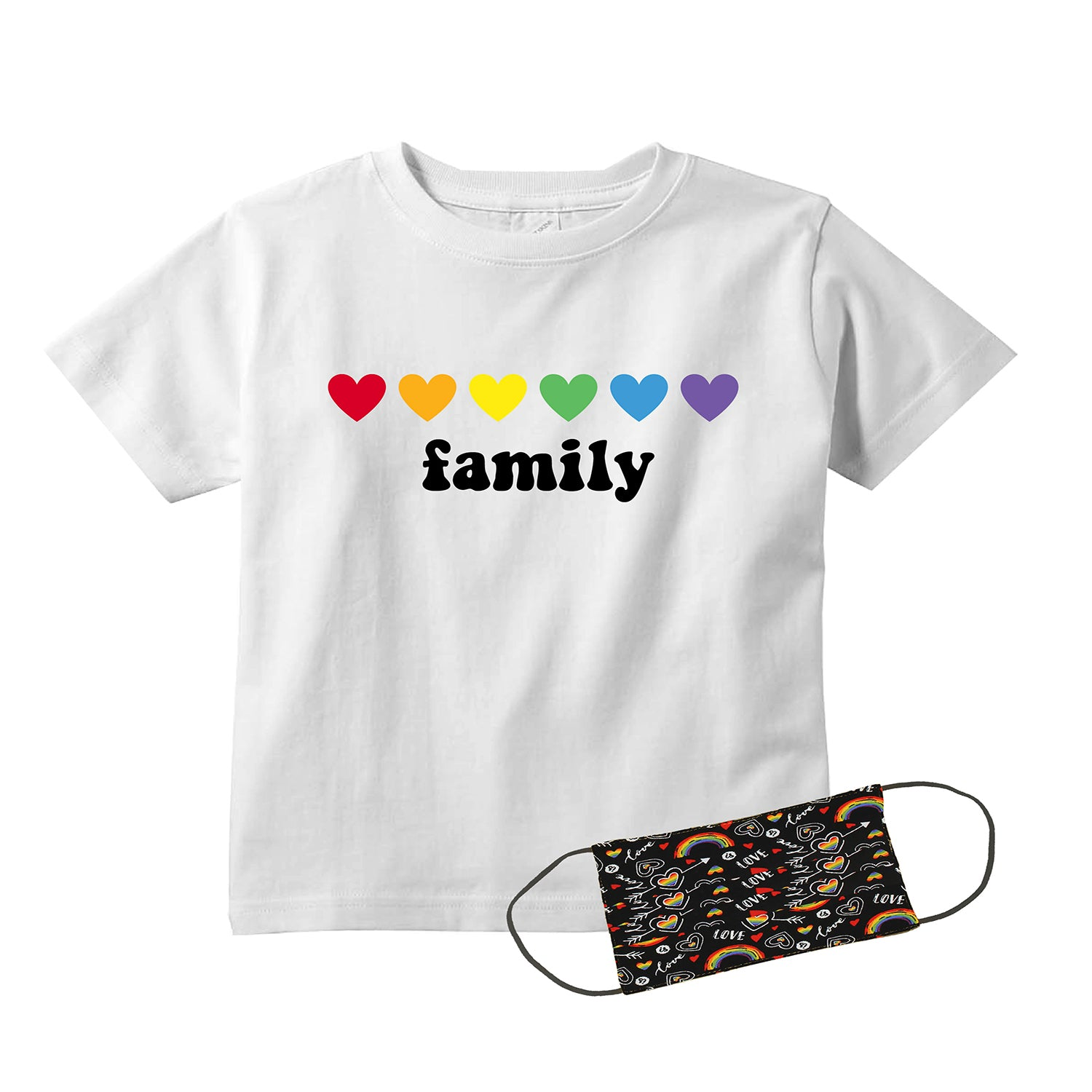 Pride Family Kids T-Shirt + FREE Love is Love Pride Face Mask