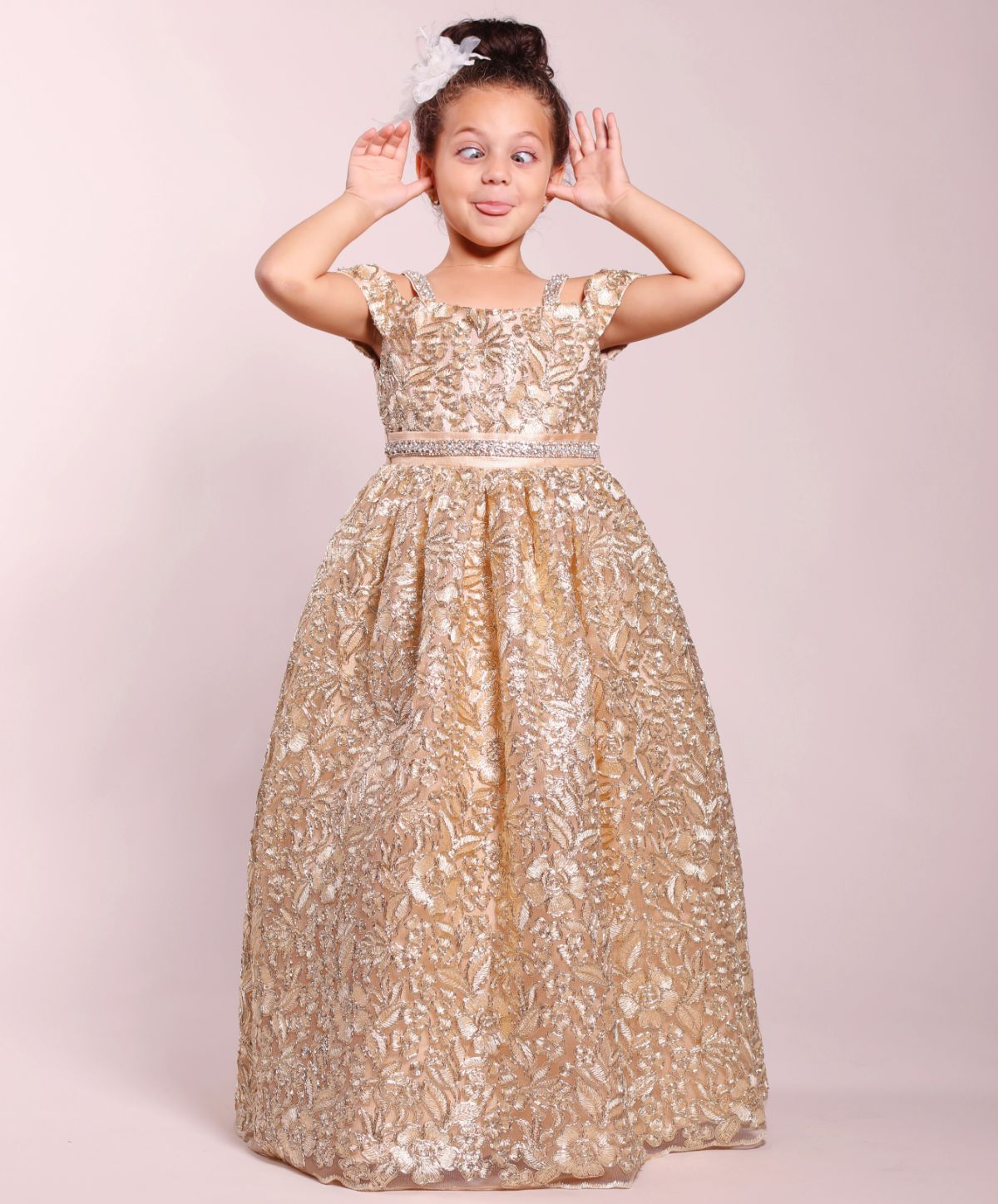 Gold Ball Gown Dress