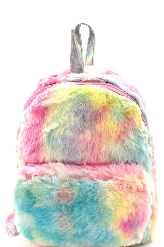Unicorn Faux-Fur Backpack