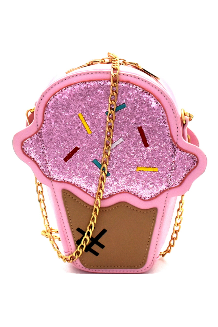Ice Cream Cone Cross Body Bag