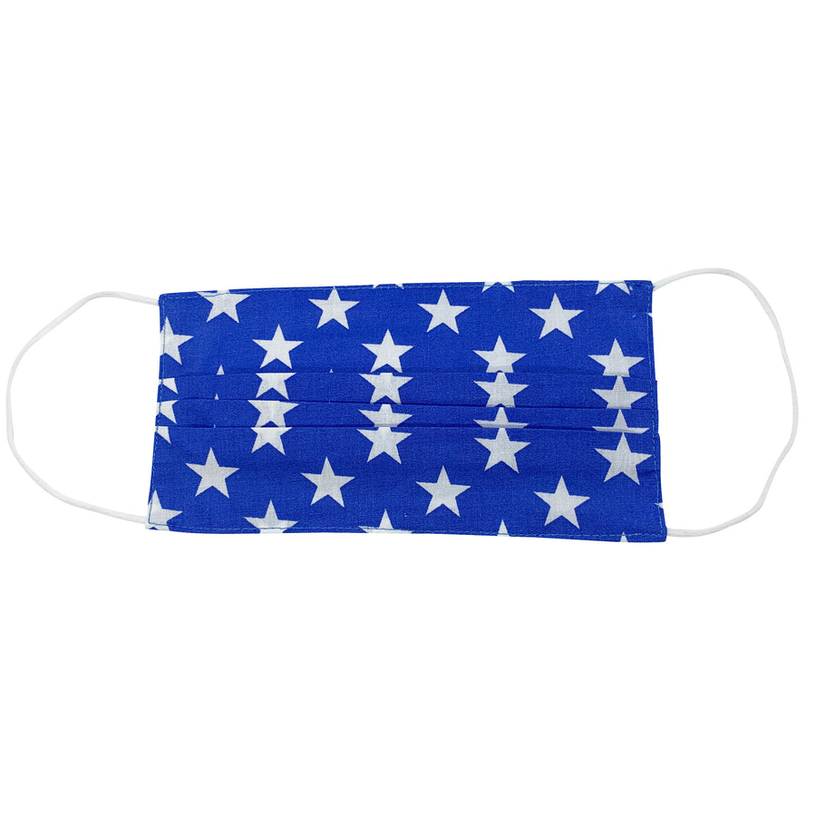 Stars on Blue Face Mask