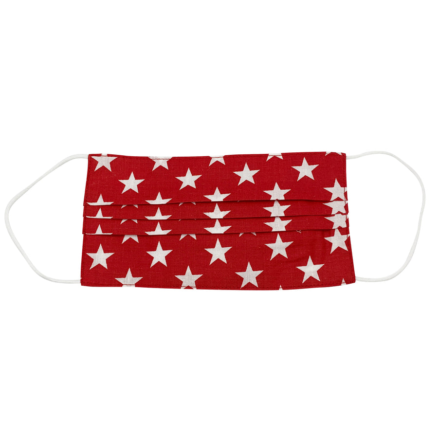 Stars on Red Face Mask
