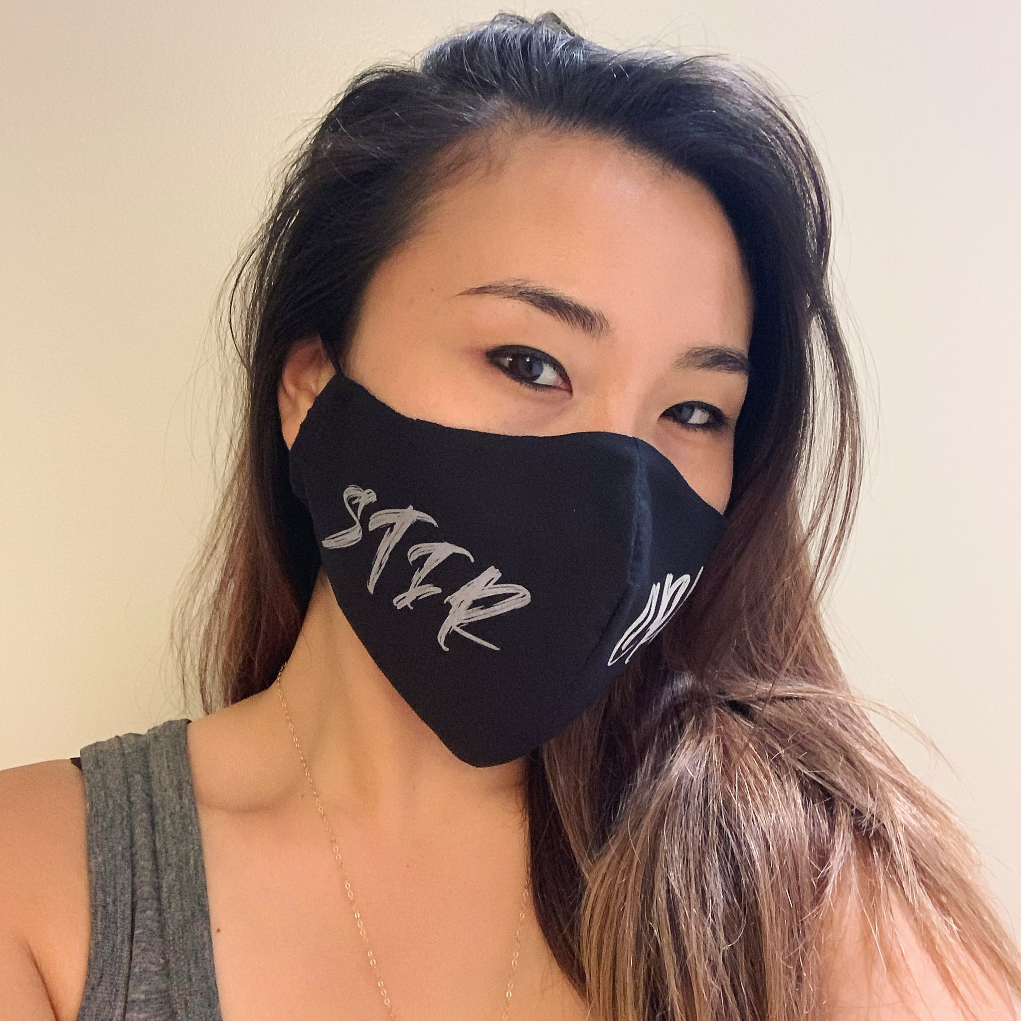 Stir Crazy Face Mask with Filter (Black & Pink)
