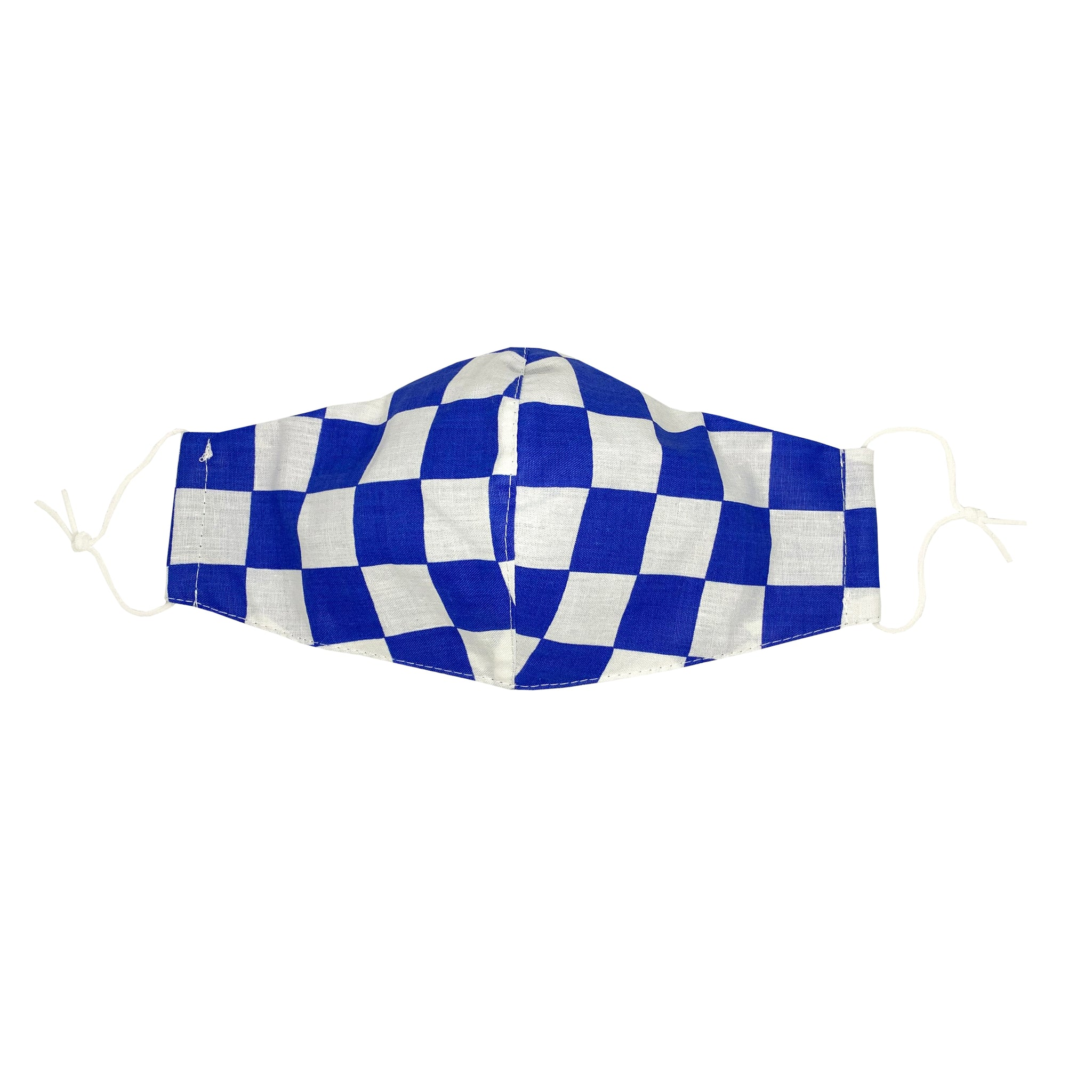 Blue Checkers Face Mask with Filter