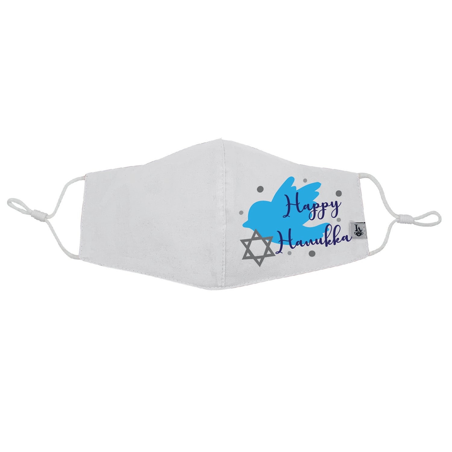Happy Hanukkah Bird Face Mask with Filter