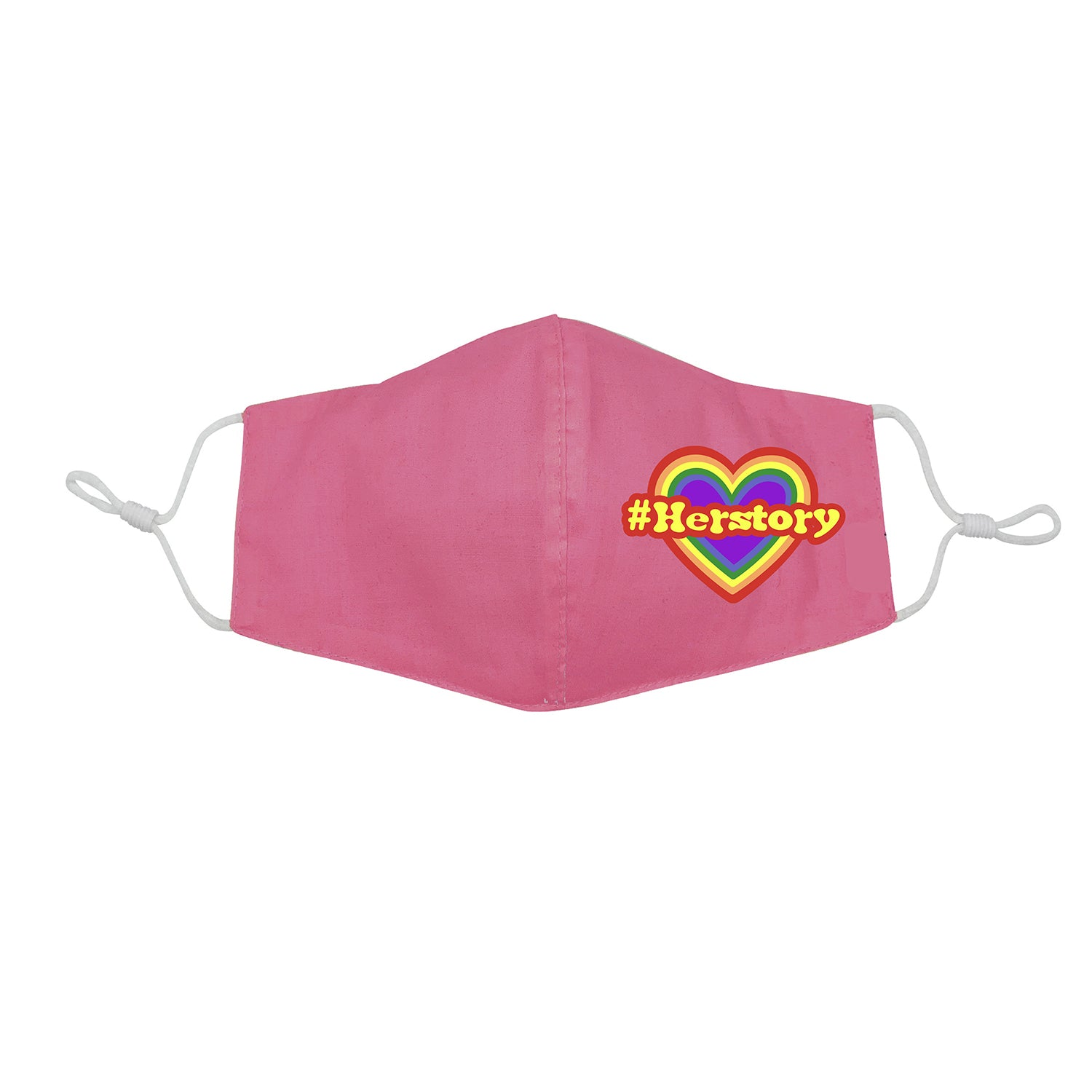 #Herstory Rainbow Heart for Kids Face Mask