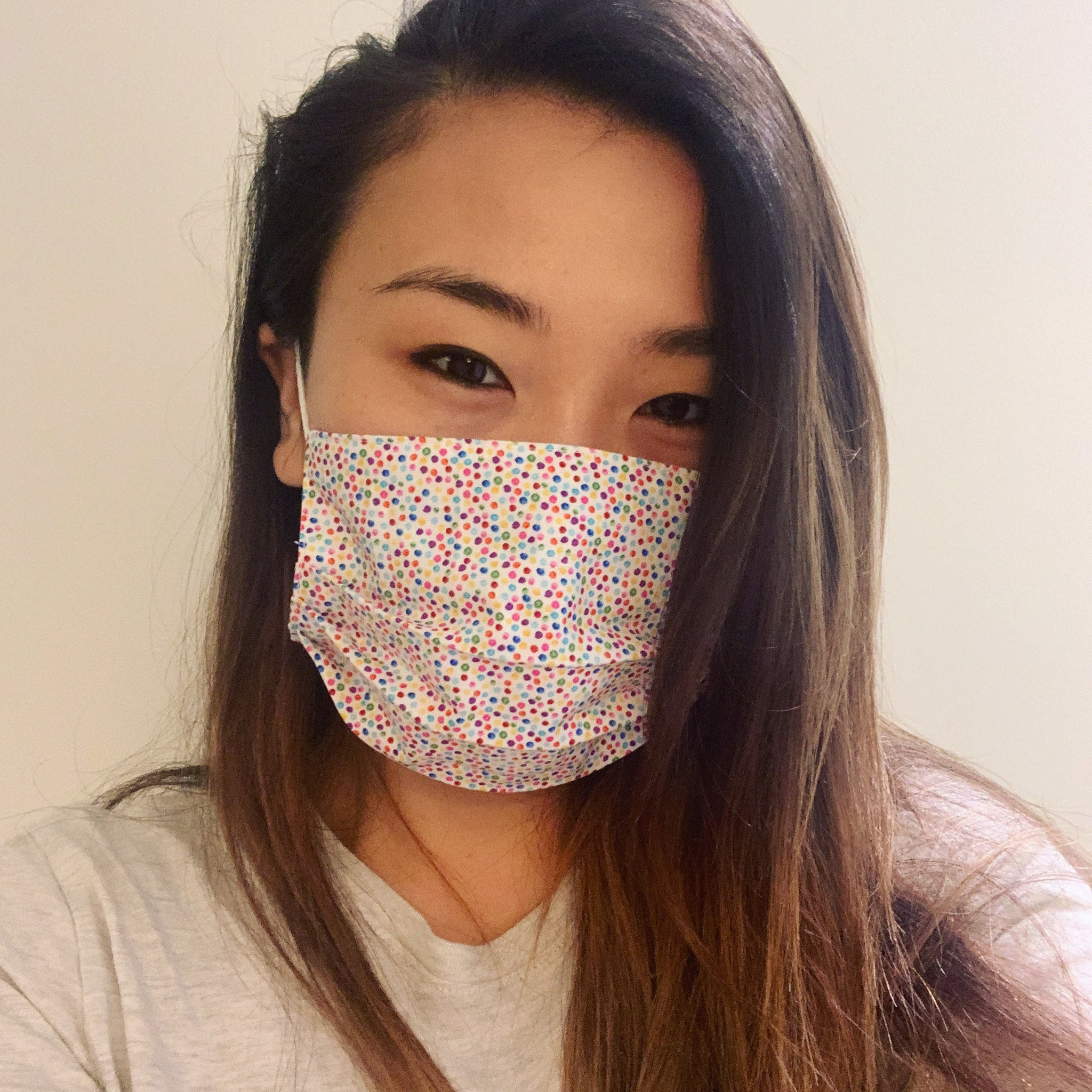 Rainbow Dot Face Mask