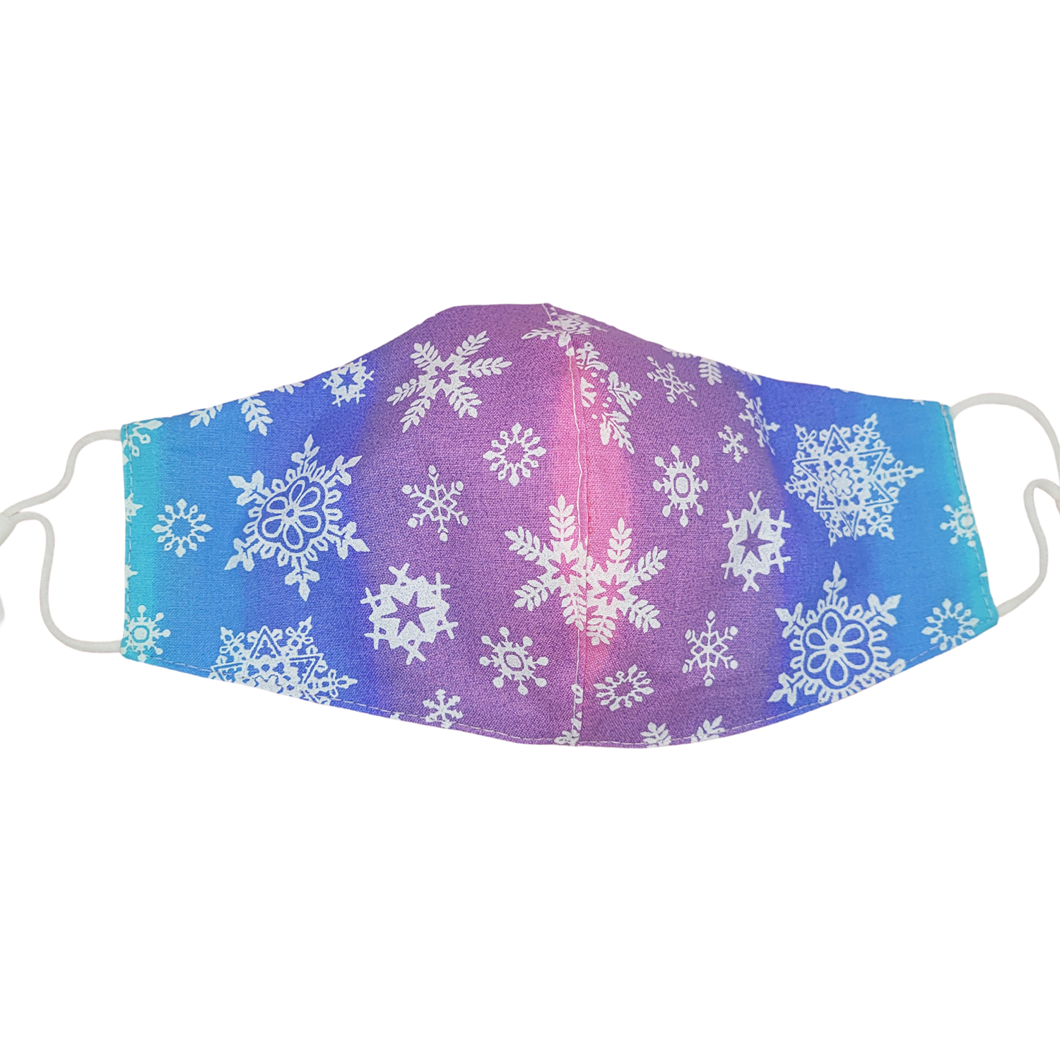Rainbow Snowflake Face Mask with Filter