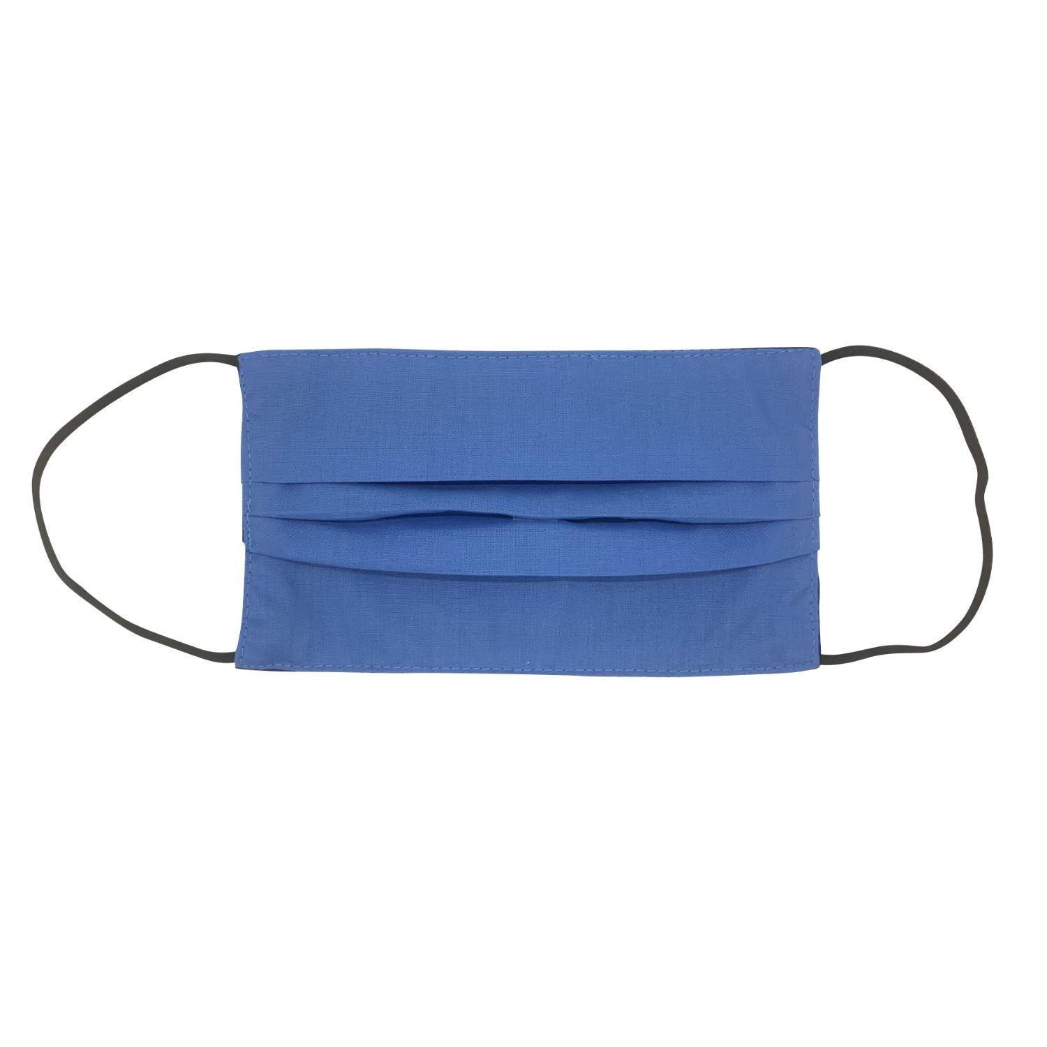 Royal Blue/Blue Double Sided Pleated Face Mask
