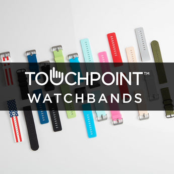 TOUCHPOINTS™ WATCHBANDS (INCLUDES 2 BANDS) - SILICON & METALLIC