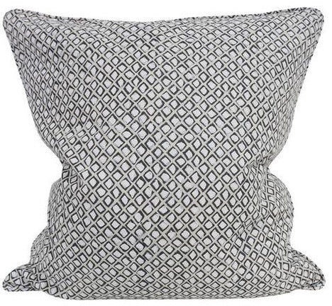 Diamond Buti Chalk Linen Cushion 60x60